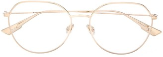 Christian Dior StellaireO15 soft-round frame glasses