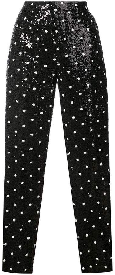 Giambattista Valli sequinned straight-leg pants