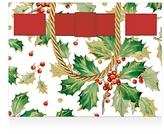 Caspari Gilded Holly Small Gift Bag