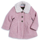 Jessica Simpson Girls 2-6x Faux Fur Trim Tweed Coat