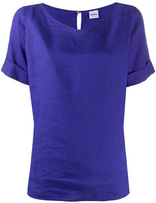 Aspesi Short-Sleeved Linen Top