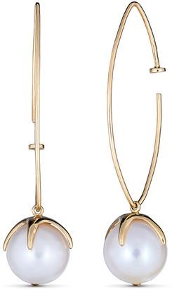 BELPEARL 14K 10 Mm Freshwater Pearl Earrings