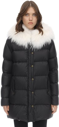 Mr & Mrs Italy Light Microfiber A-line Puffer Coat