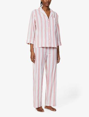 Honna Striped cotton pyjama set
