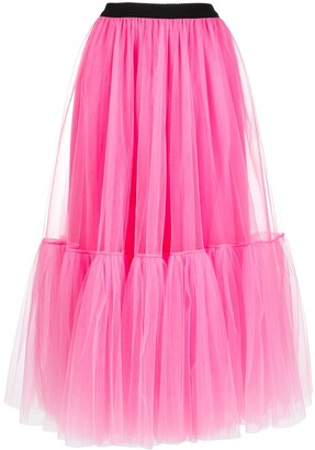 Parlor Layered Tulle Full Skirt