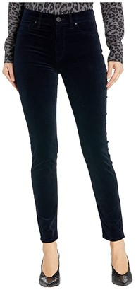 Hudson Barbara Velvet High-Waist Super Skinny Ankle in Midnight Navy (Midnight Navy) Women's Jeans