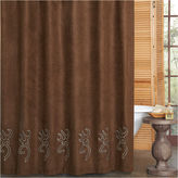 BROWNING Browning Buckmark Embroidered Suede Shower Curtain
