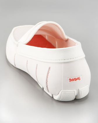 Swims Rubber Penny Loafer, White