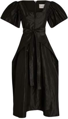 Preen Jayda Puff-Sleeve Midi Dress