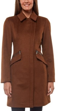 Vince Camuto Asymmetrical Stand-Collar Coat