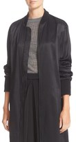 DKNY Ribbed Trim Long Jacket