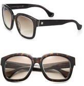 Balenciaga 52MM Square Tortoise Acetate & Metal Sunglasses