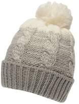 Gelert Womens Yarn Pom Beanie Hat Winter Warm Knitted