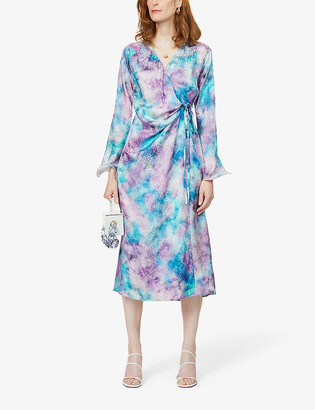 ART DEALER Deborah tie-dye silk midi dress