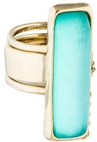 Alexis Bittar Elongated Double Band Ring