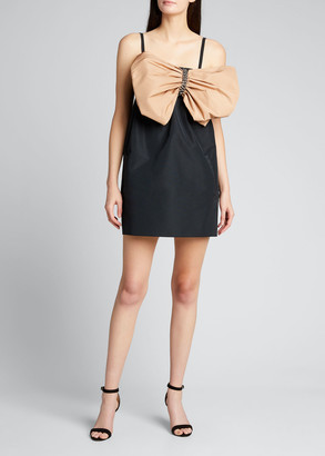 No.21 Sleeveless Bow-Bodice Mini Dress