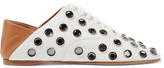 Acne Studios Mika Crystal-embellished Leather Loafers - Off-white