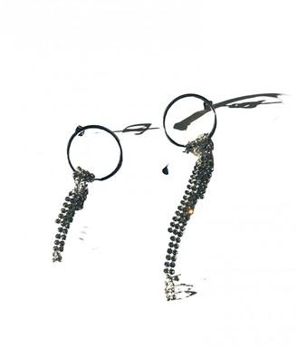 Justine Clenquet Silver Metal Earrings