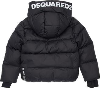 DSQUARED2 Hooded Logo Nylon Down Jacket