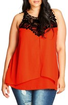 City Chic Plus Size Women's Chiffon Top