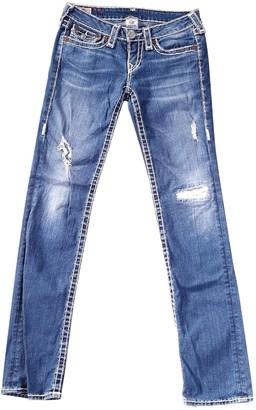 True Religion Blue Cotton Jeans for Women Vintage