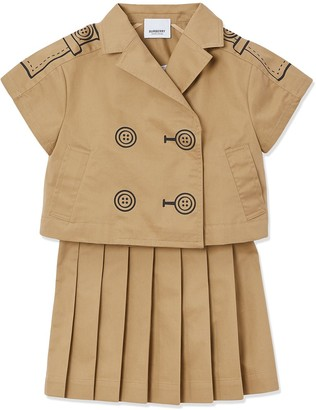 BURBERRY KIDS Trompe LOeil trench dress