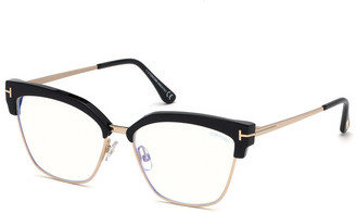 Tom Ford Cat-Eye Acetate & Metal Optical Frames