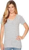 Pendleton Women's Short Sleeve Pima Stripe Tee