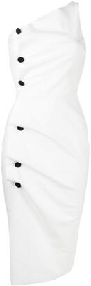 Le Petite Robe Di Chiara Boni Side Button-Detail Dress