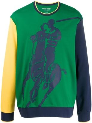 Polo Ralph Lauren Colour Block Logo Sweatshirt