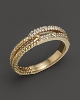 Bloomingdale's Pavé Diamond Link Ring in 14K Yellow Gold, .20 ct. t.w.