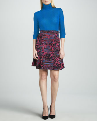 M Missoni Intarsia Fit-and-Flare Skirt