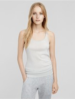 Calvin Klein Collection Cashmere Ribbed Racer Tank
