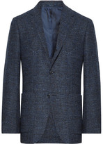 Ermenegildo Zegna Navy Slim-Fit Prince of Wales Checked Woven Blazer