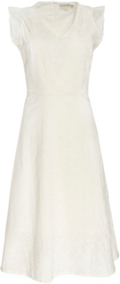 People Tree White Jessica Broderie Dress - 8