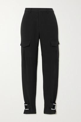 HOLZWEILER Skunk Suit Buckled Woven Cargo Pants - Black
