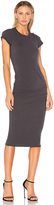 James Perse Classic Skinny Dress in Gray. - size 0 (XXS/XS) (also in 1 (XS/S),2 (S/M))