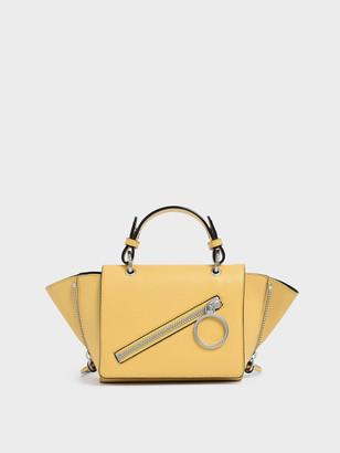 Charles & Keith Ring Zip Pocket Trapeze Bag