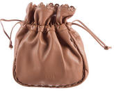 Alaia Leather Drawstring Pouch