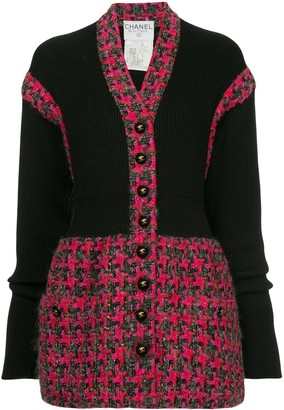 Chanel Pre Owned Buttoned Knitted Jacket