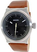 Diesel Men's Brown Leather Band Dress Watch