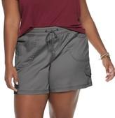 UNIONBAY Juniors' Plus Size Lightweight Stretch Twill Mid Length Shorts