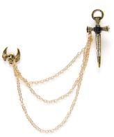 Shein Skeleton & Sword Design Brooch