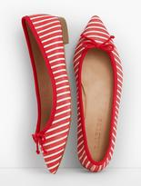 Talbots Mira Ballet Flats-Stripe Textured Leather