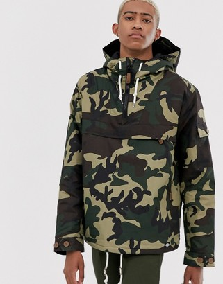 Dickies Milford overhead jacket in camo-Green