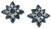 Carolee Silver-Tone Blue and Clear Crystal Stud Earrings