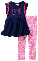 Juicy Couture Pompom Tunic & Legging Set (Baby Girls 12-24M)