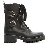RED Valentino Women's Black Leather Ankle Boots.