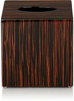 Pacific Connections Macassar Ebony Boutique Tissue Cover Box-BROWN