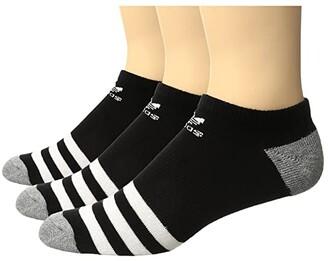 Adidas Originals Kids Originals Roller No Show Sock 3-Pack (Little Kid/Big Kid) (White/Black |White/Black/White/Black) Kids Shoes